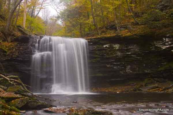Harrison Wright Falls in Ricketts Glen State Park.  Luzerne County