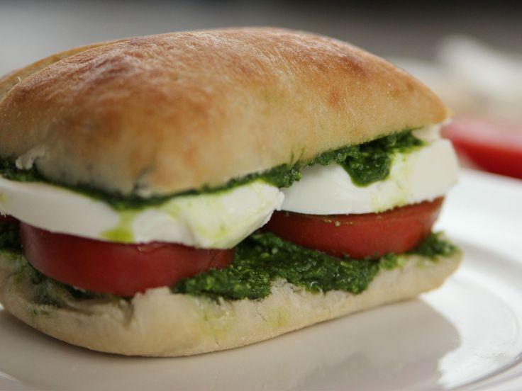 Tomato, Mozzarella and Pesto Sandwiches recipe from Ree Drummond via Food Network