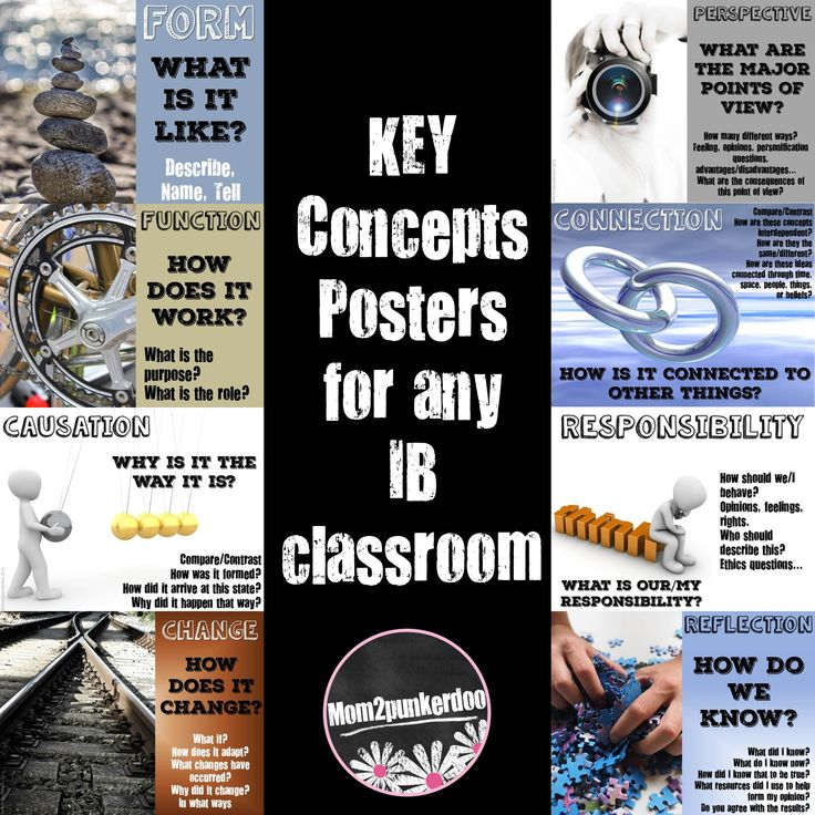 IB Key Concepts Posters for your PYP classroom. Set of colorful posters for your…