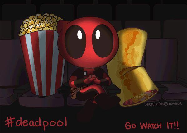 #Deadpool #Fan #Art. (Who's gonna go see Deadpool!?  Lil' Deadpool went without me! >:|) By: Jordandwhite & Wavechan. (THE * 5 * STÅR * ÅWARD * OF * MAJOR ÅWESOMENESS!!!™) [THANK U 4 PINNING!!!<·><]<©>ÅÅÅ+(OB4E)