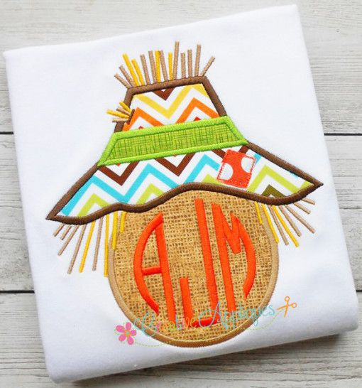 scarecrow-monogram-applique