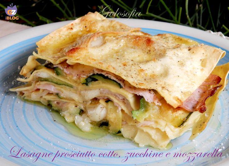 Lasagne ham, zucchini and mozzarella - Lasagne prosciutto cotto, zucchine e mozzarella-ricetta gustosa