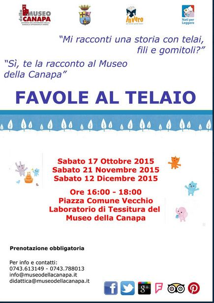 """""""Favole al Telaio"""": il progetto di lettura per bambini al Museo della Canapa - Antenna dell'Ecomuseo della Dorsale Appenninica Umbra fino al 12 dicembre"""