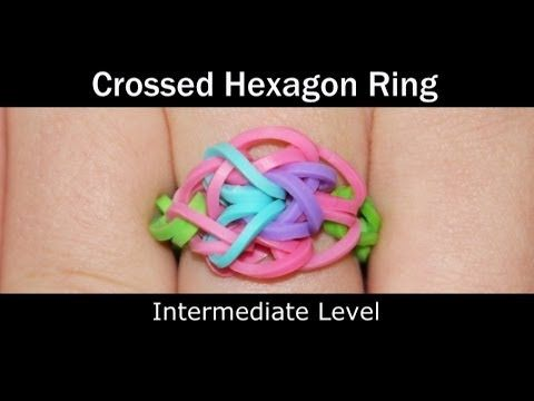 Rainbow Loom® Crossed Hexagon Ring