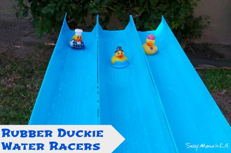 Outdoor Water Games: Rubber Duck Races #LowesCreator