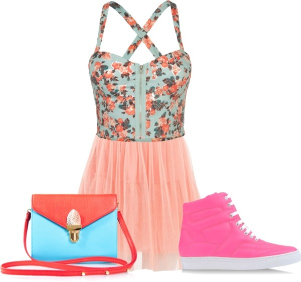 """Blue-Pink"" by kuku-claudia on Polyvore"