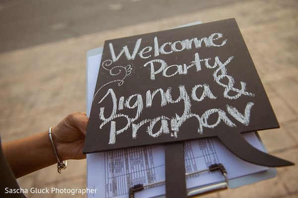 Welcome party sign - greet all your traveling guests with a welcome party to kick off your destination wedding! #destinationwedding