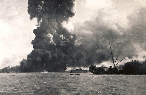 On February 19th 1942, Japan sent 242 aircraft to attack targets in the Australian city of Darwin. It was the first and largest foreign attack on the nation and began a series of bombings. The city was not well defended, so Allied losses were high while Axis casualties were low. While Japan lost only 7 aircraft, Australia lost 10 ships (with another 25 damaged), 23 aircraft, and 250-320 people were killed (with 300-400 injured). http://dagamerstable.blogspot.ca/2011/02/bombing-of-darwin.html