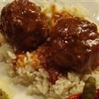 Sweet and Sour Meatballs in Sauce Recipe   I like the homemade sauce!