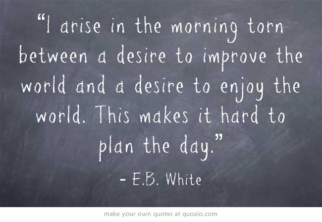 I agree! By the way, E.B. White wrote Charlotte's Web!