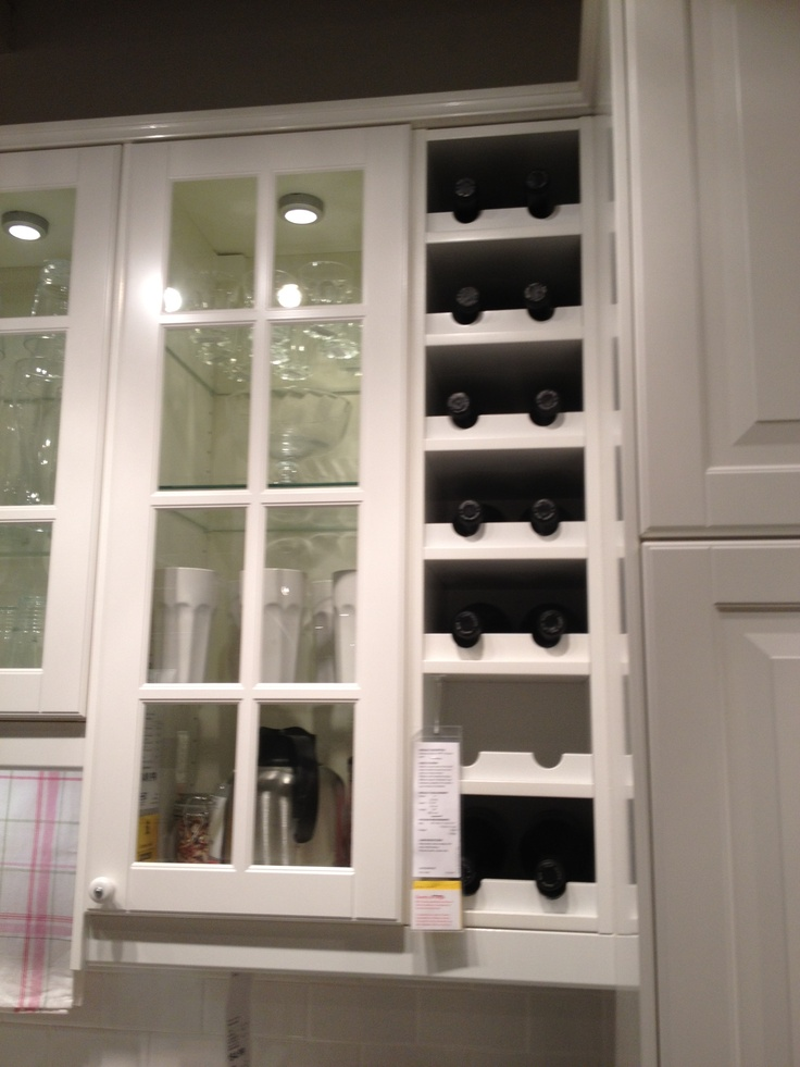 Built in wine rack from ikea new house ideas for Wine rack built in