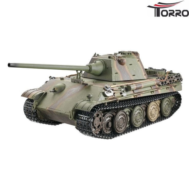 Panther F Profi-Edition BB Grøn Camouflage - RC Kampvogn
