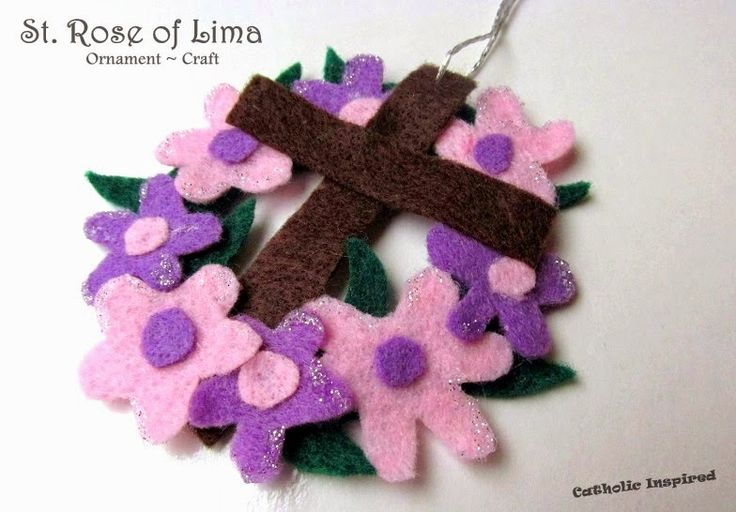 Sts. Helena, Rose, Monica, and Augustine + Queenship of Mary Crafts {Liturgical Ornaments} ~ Catholic Inspired