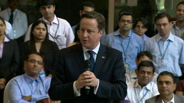 BBC News - David Cameron: UK and India can have great partnership