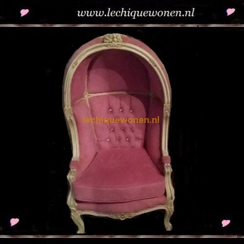 Barok kinder fauteuil little napoleon oud roze | Le Chique Wonen