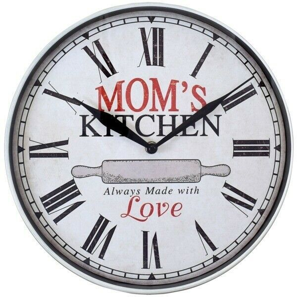 Westclox 32897mk 12 Inch Mom S Kitchen Wall Clock In 2020 Kitchen Wall Clocks Round Wall Clocks Wall Clock Glass
