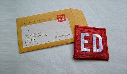 envelope business card.
