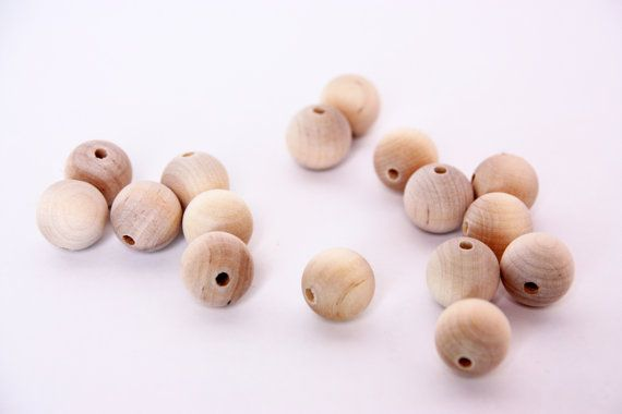 wooden beads, small unfinished wooden beads, round wood beads, raw wood beads, wooden jewelry, supply, unfinished, necklace, eco