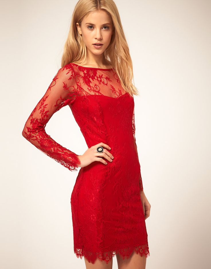 Nice little red lace dressCapri Pants, Pretty Dresses, Cocktails Rings, Little Red, Cocktail Rings, Red Dresses, Fashion Style, Hollywood Glamour, Red Lace Dresses