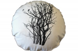 Mulga Shadow Round Cushion by Sophie Seeger for The Eco Collective