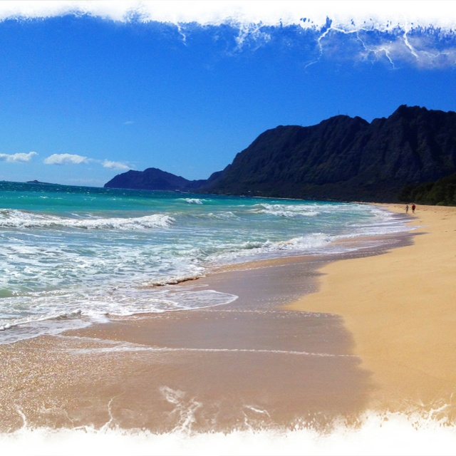 Boogie board at Waimanalo Beach or Bellows AFB if it's open (Oahu)