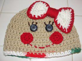 My Crochet , Mis Tejidos by Luna: Gingerbread beanie hat / Gorro de Galletita de jengibre