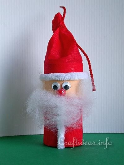 Christmas Paper Craft - Paper Roll Santa - Recycling Craft