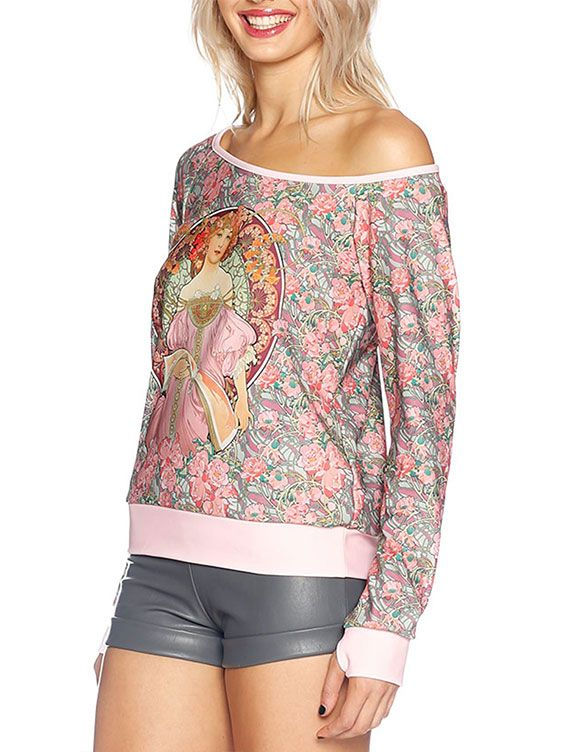Pink Moon Off the Shoulder Sweater - LIMITED (AU $90AUD / US $60USD) by Black Milk Clothing