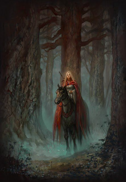 characters- reminds me of a lightbringer in a dark wood full of shadows, like the paladin look and the young ageless effect on girl