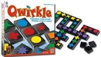 Qwirkle - Abstract familiespel voor het hele gezin.  Leg tegels met verschillende symbolen of kleuren aan elkaar en scoor punten. Maak je een serie af of beëindig je het spel, dan krijg je bonuspunten. Wie scoo