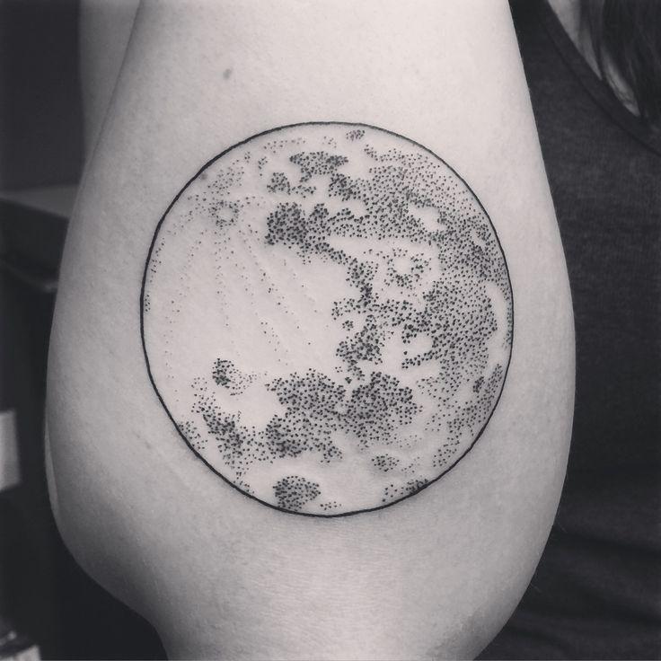 Best 25 full moon tattoos ideas on pinterest owl for Black moon tattoo