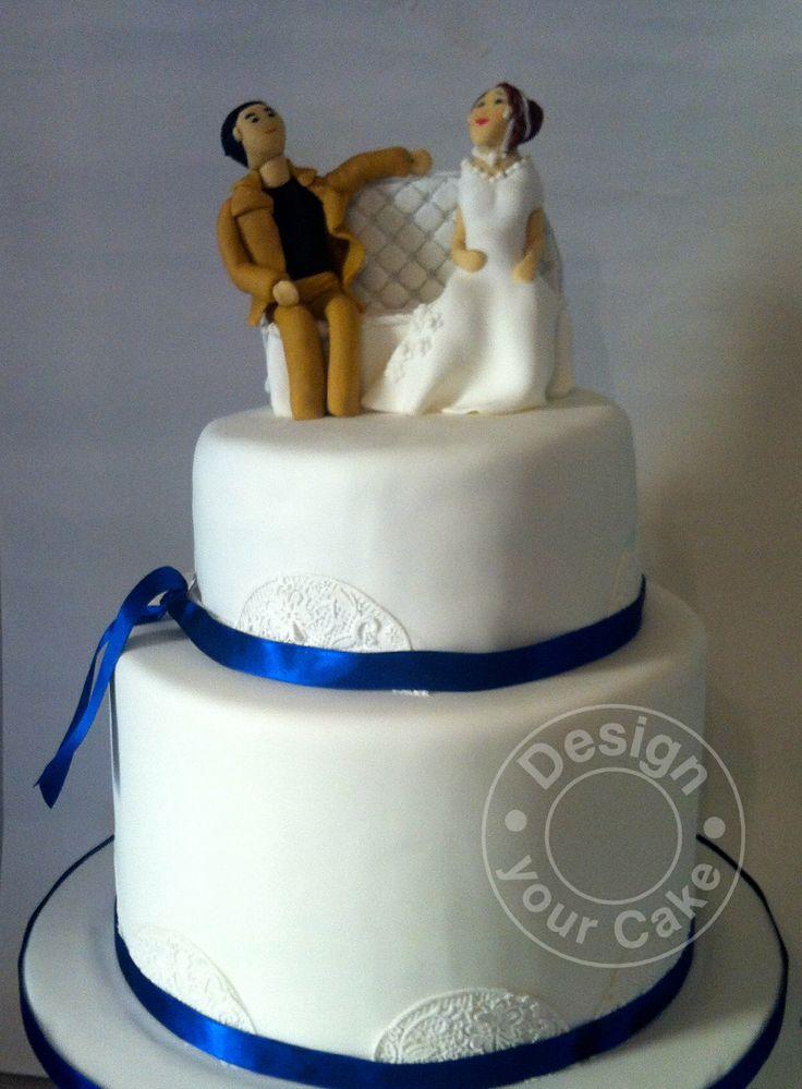 Custom made groom and bride wedding cake…