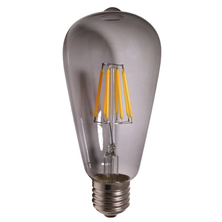 smoked tint glass cover ST64 led filament bulb