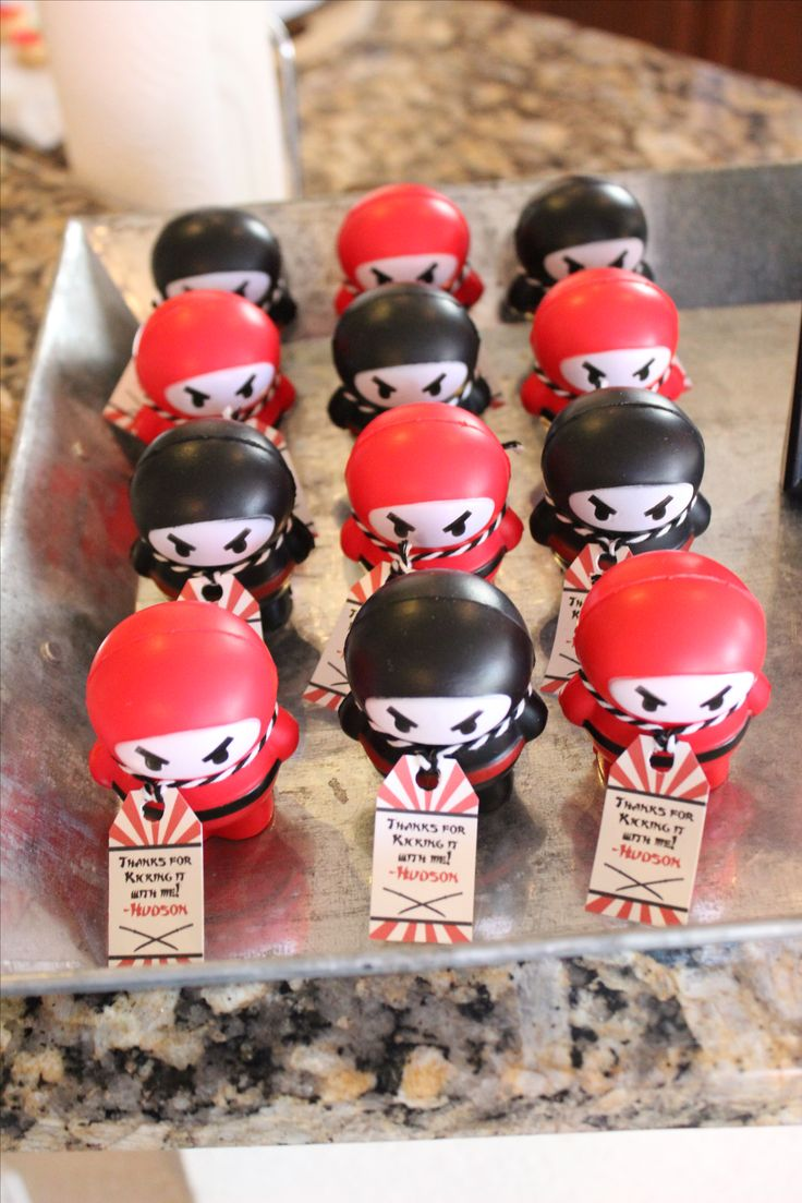 Thanks for kicking it with me! Ninja birthday party favors