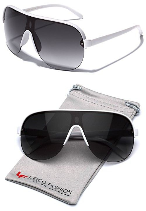 b61f6b0bdf Oversized Flat Top Aviator Sunglasses Shield Men s Women s Retro 80 s  Vintage Glasses in 2018