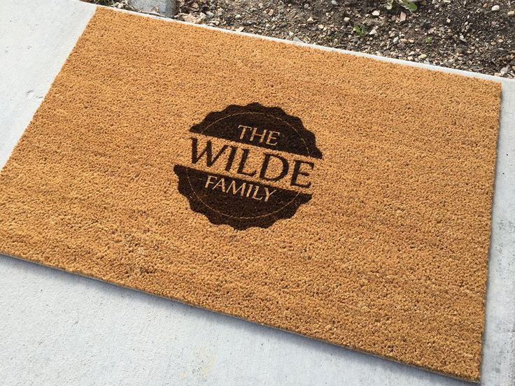 1000 Ideas About Personalized Door Mats On Pinterest