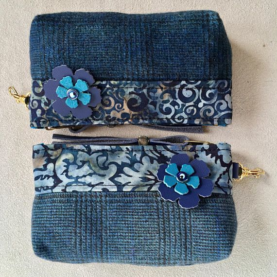 Boho Paisley Upcycled Repurposed Wool Glasses Small Phone Case