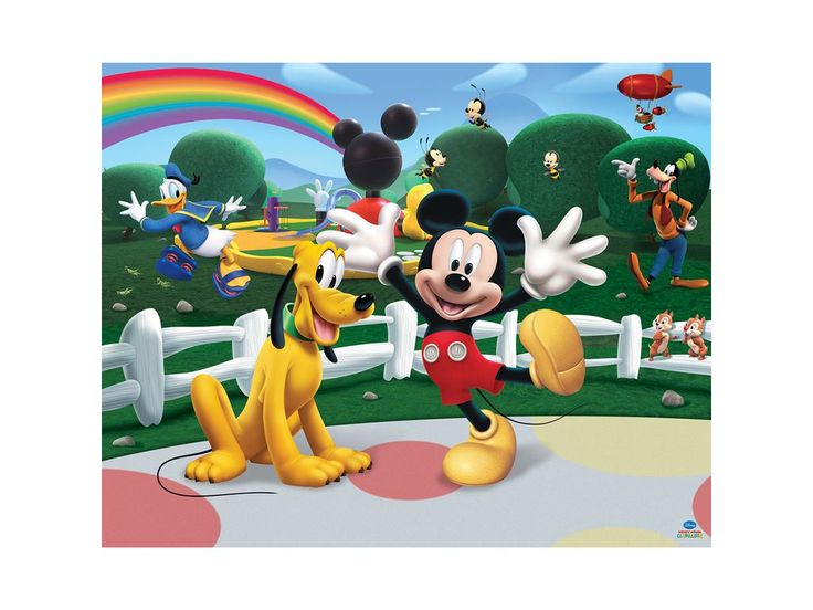 Walltastic Disney Mickey Mouse Clubhouse Mural 8ft x 10ft