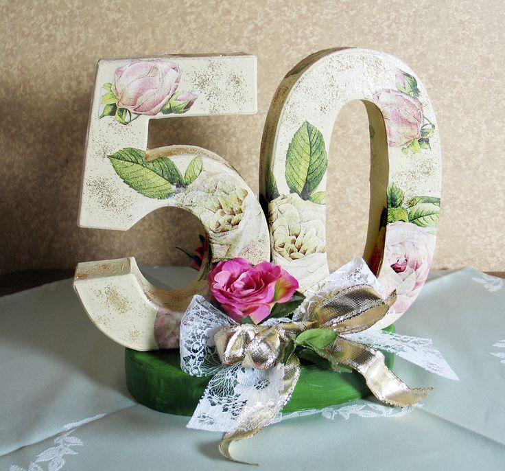 Jubiläumszahl Tischdeko für Jubiläum oder Goldene Hochzeit kaufen