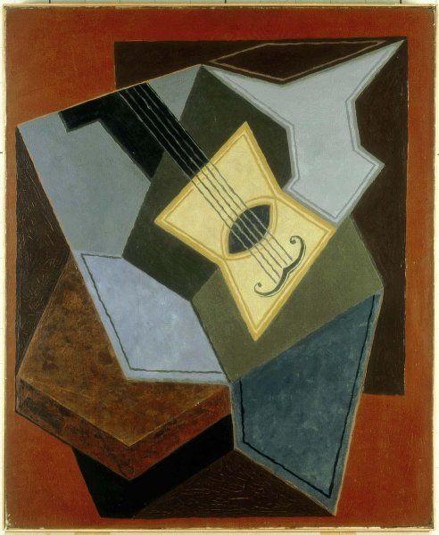 Juan Gris (José Victoriano González Pérez) - Guitare et compotier (Guitar and Fruit Bowl)