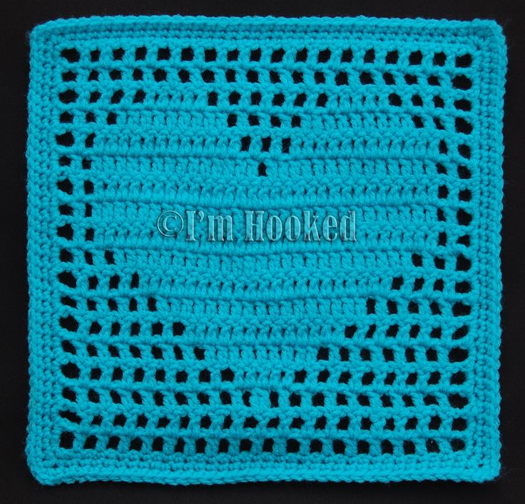 Crochet Filet Heart Block Motif By I'm Hooked - Free Crochet Pattern - (imhooked25.blogspot)