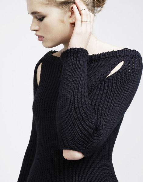Mind the Gap sweater // wool & the gang knit-your-own