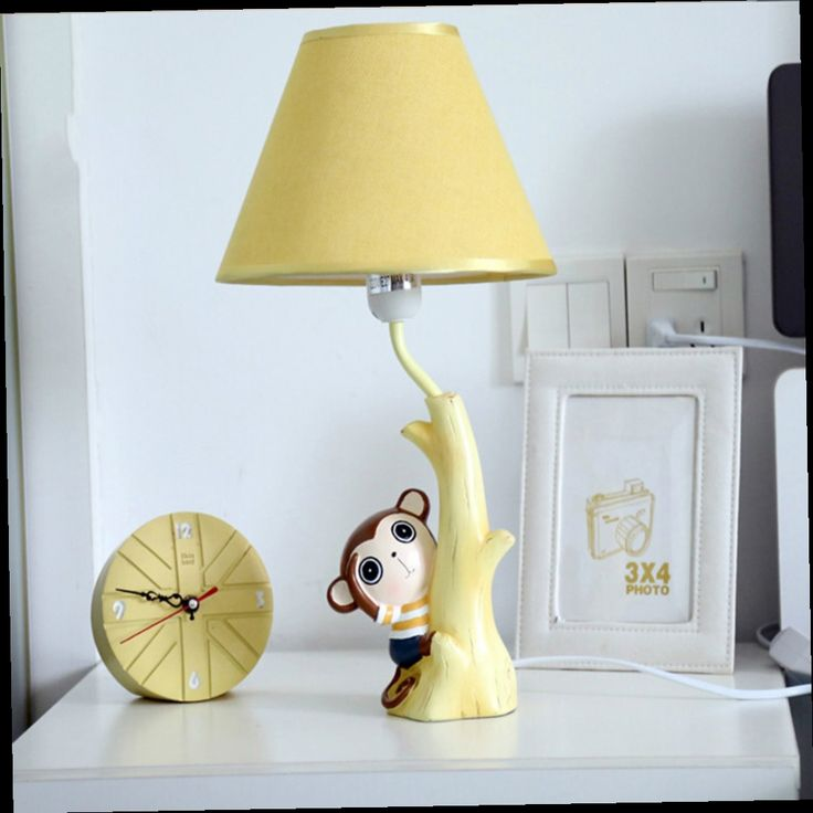 49.81$  Buy now - http://alii1w.worldwells.pw/go.php?t=32775530555 - High quality Children Room Meng Monkey Kids Table Lamp E14 110V-220V Switch Button Modern Led Desk Lamp Light Study Lamps