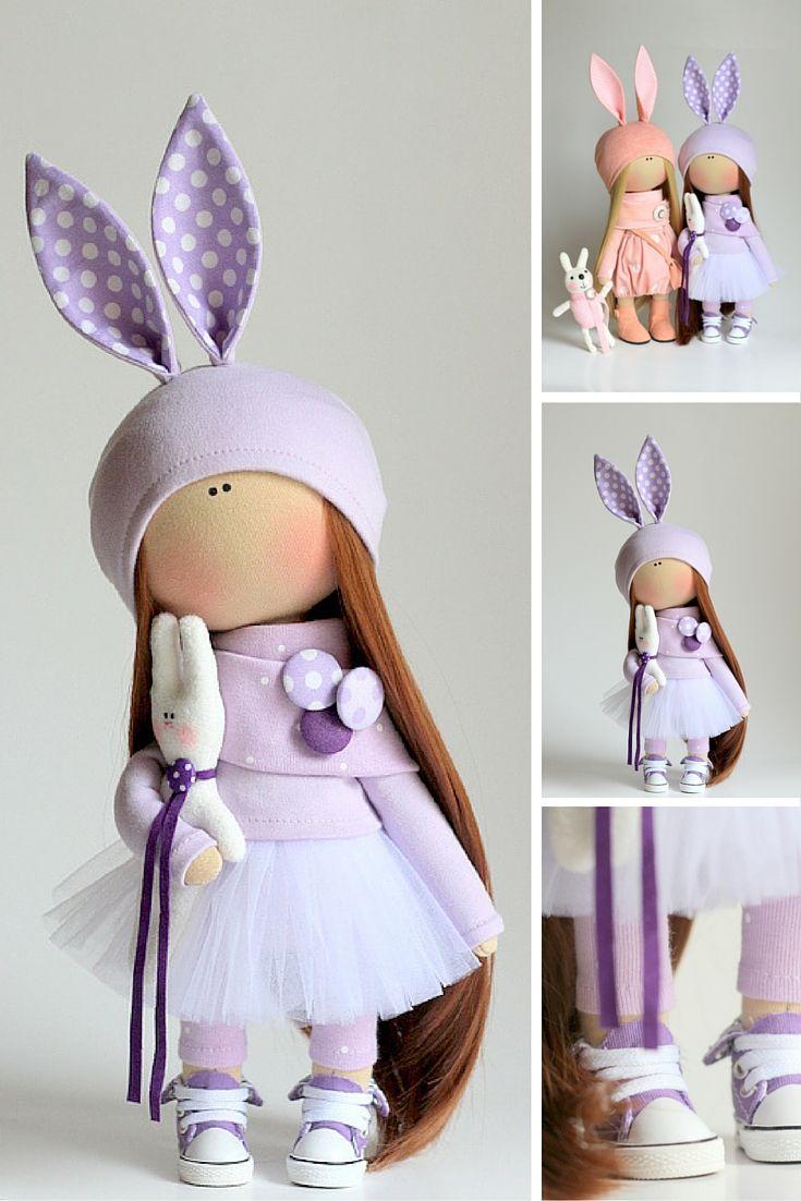 Rabbit doll, handmade doll, tilda doll, textile doll, fabric doll, gift doll