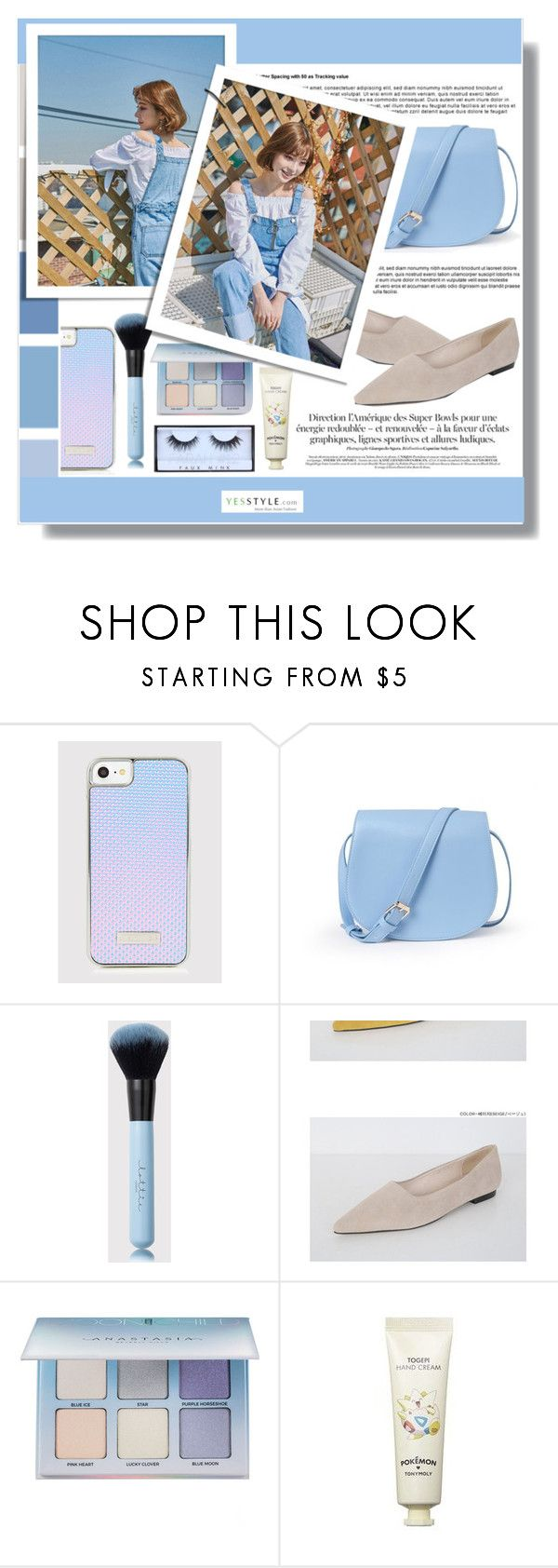"""""""YesStyle - 10% off coupon"""" by clumsy-dreamer ❤ liked on Polyvore featuring Anastasia Beverly Hills, Tony Moly, Huda Beauty, yesstyle, prespring and productAnchor"""