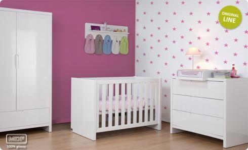 Chambre bébé Complète Childwood Glossy - Blanc Laqué - kadolis.com