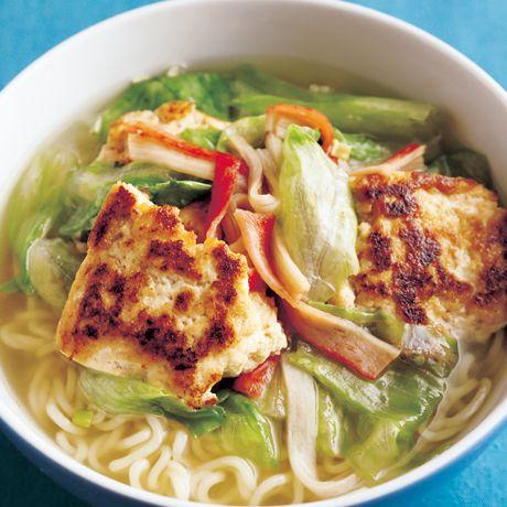 中華風焼き豆腐ラーメン | 市瀬悦子さんの料理レシピ | プロの簡単料理レシピはレタスクラブネット