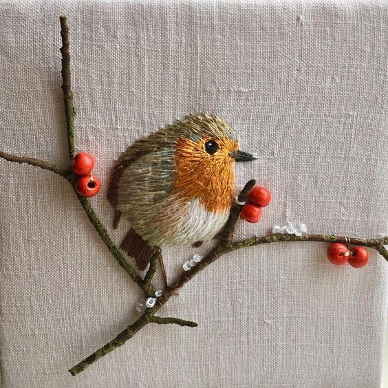 . bird embroidery aa