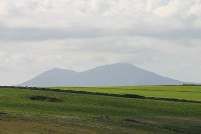 Snowdon, seen from Barclodiad y Gawres, North Wales The two sites are largely out of place structures, which may only have been built because