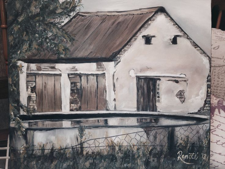 Old farm house. Painter - Renate Weistra.